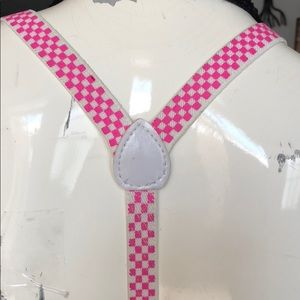 Hot Topic Other - ** SALE ** Pink and white checker suspenders